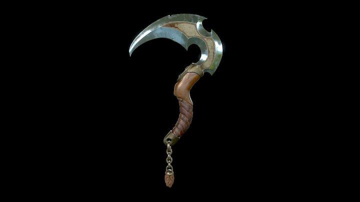 Fantasy Sickle 3D Model