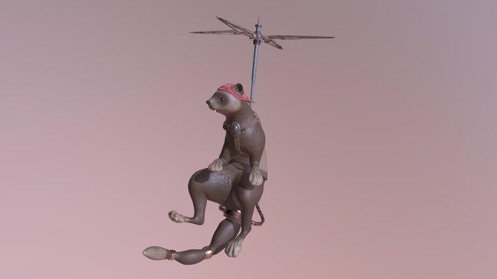 Propeller Ferret 3D Model