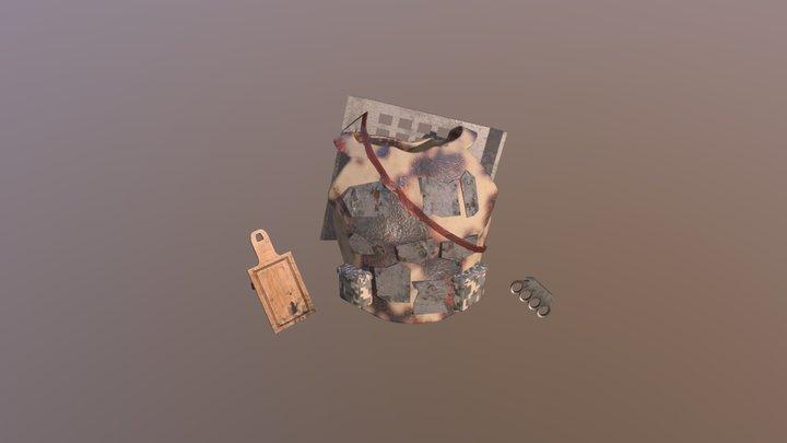 Дейлики XYZ _ Post-Apocalypse Armor 3D Model