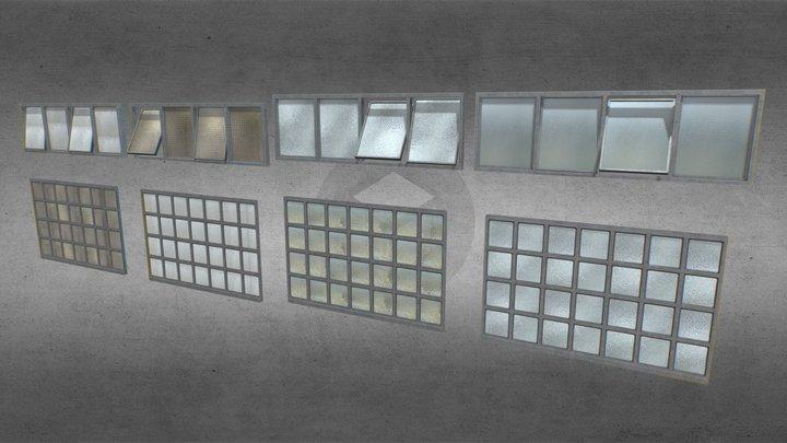 Factory windows pack 4 3D Model