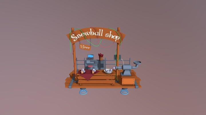 Snowball shop 3D Model