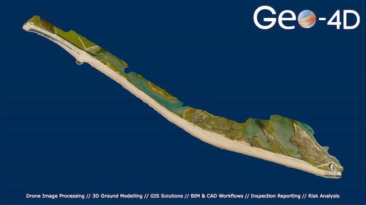 NFDC Wingtra Coastal Survey 3D Model