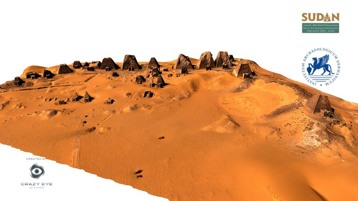 QMPS-Royal Cemetery Of Meroe 3D Model