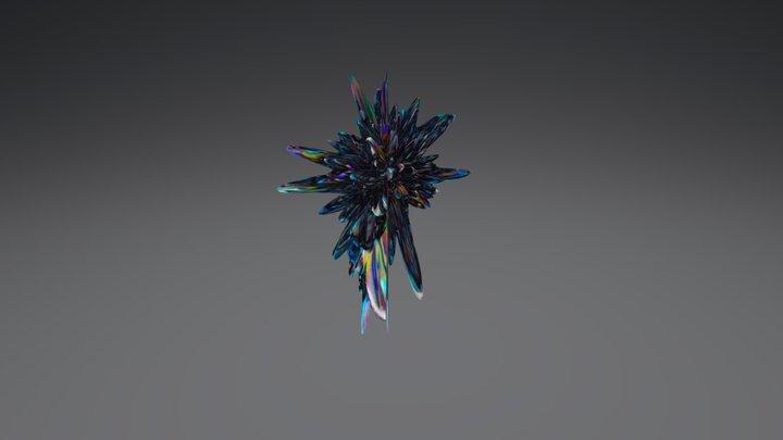 Black Glass Sphere 3D Model