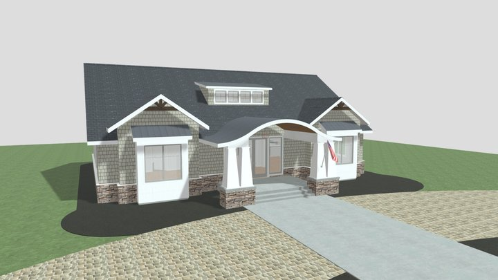 Cottage Bungalow 3D Model