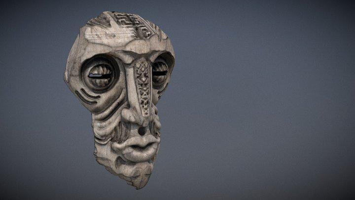 african mask 1 3D Model