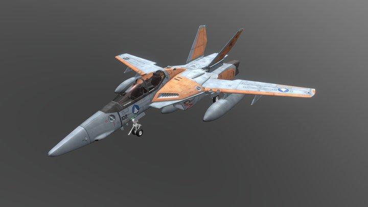 VF-1D Valkyrie 3D Model