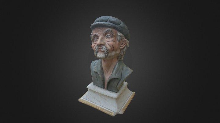 Old Man Bust 3D Model