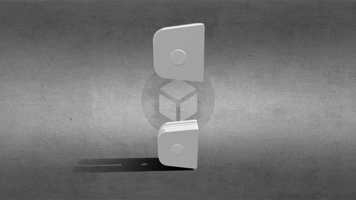 1230 Suporte Para Vidro Basculante 3D Model