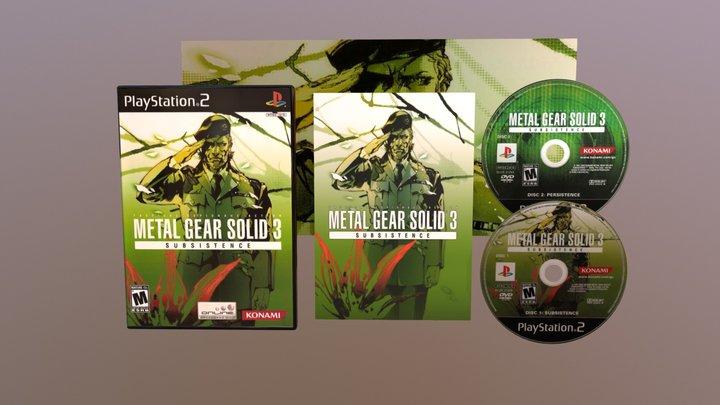 PS2 Metal Gear 3 - Subsistence NTSC 3D Model