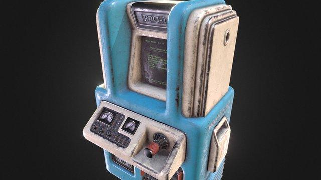 Retro-Futuristic Computer 3D Model
