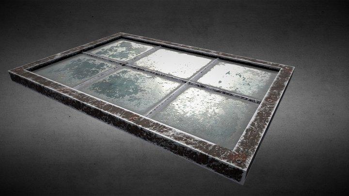 Old Window Door 3D Model