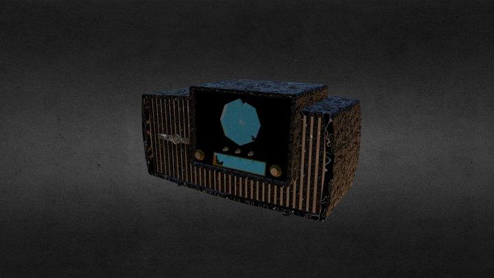 Vintage Radio (V2 textures) 3D Model