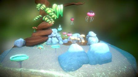 Fantasy Forest 3D Model
