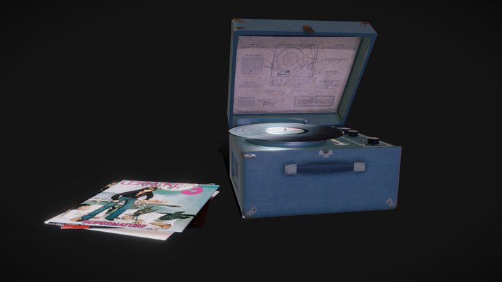 Califone 1420C Record Player 3D Model