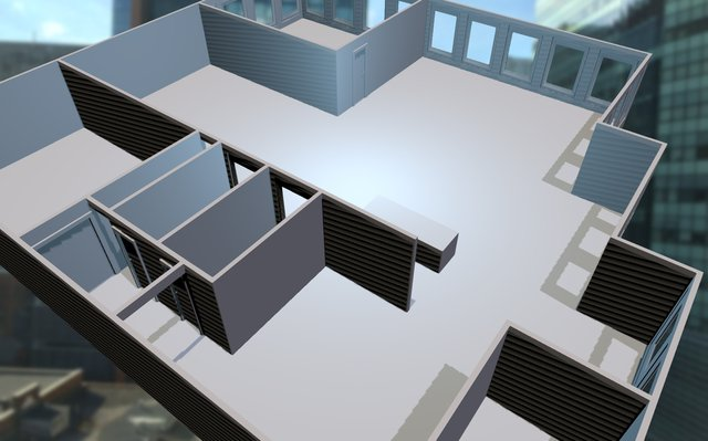 District3 - Draft layout of space 3D Model