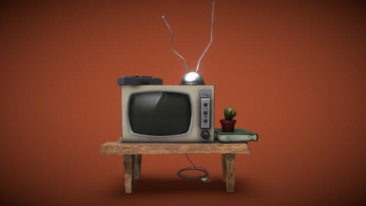 Tiny Toon TV Table 3D Model
