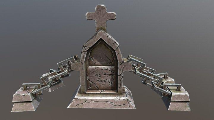 Tombstone. 3D Model