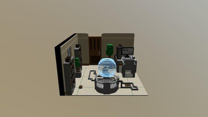 Voxel Office Scene 01 3D Model
