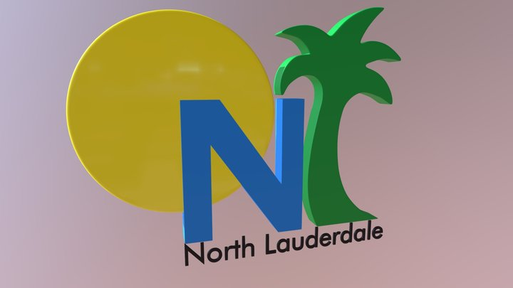 3D Logo For North Lauderdale's PEG Channel 3D Model