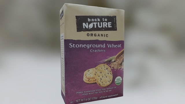 Back To Nature Wheat Crackers 3D Model