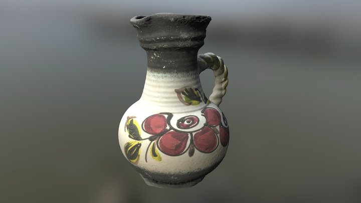 Old Polish Slavic Jug 3D Model