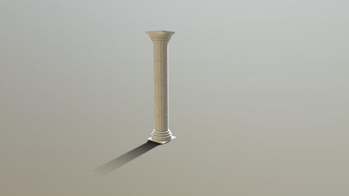 Generic Stone Pillar 3D Model