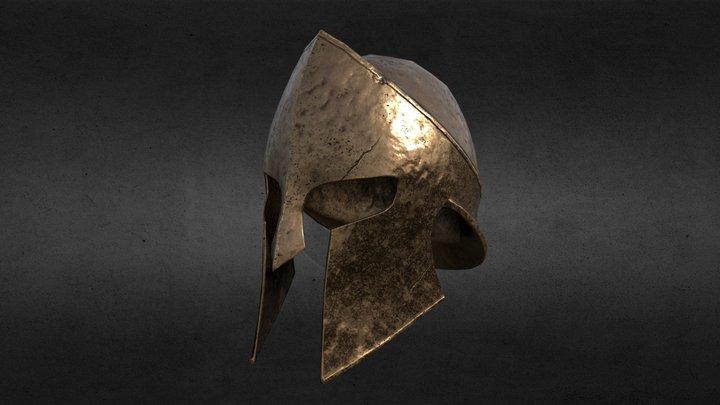 Spartan Helmet - Low Poly 3D Model