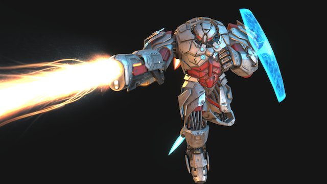 World at Arms - Atlas defensive 3D Model