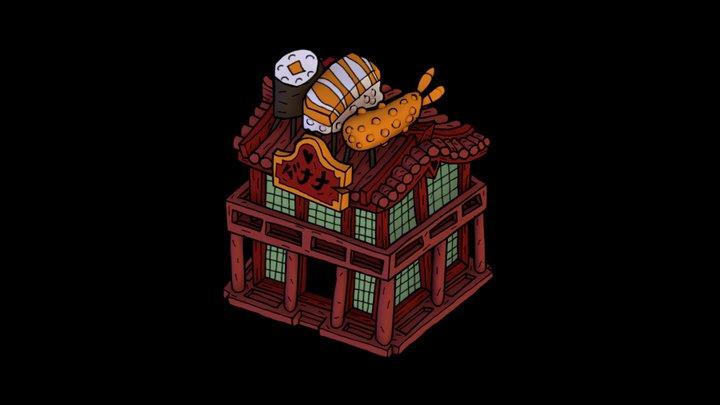 House 03 -Shushi Shop 3D Model
