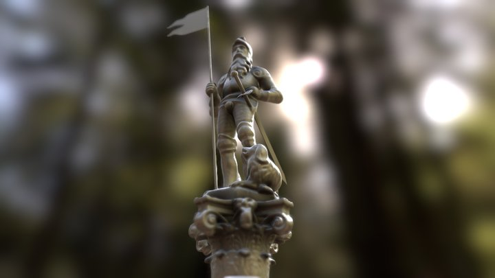 Statue of Fountain of Loyalty Fribourg 3D Model