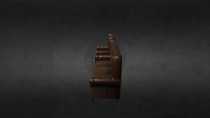 Old leather furniture 3D Model