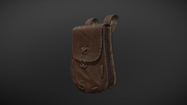Leather Pouch 3D Model