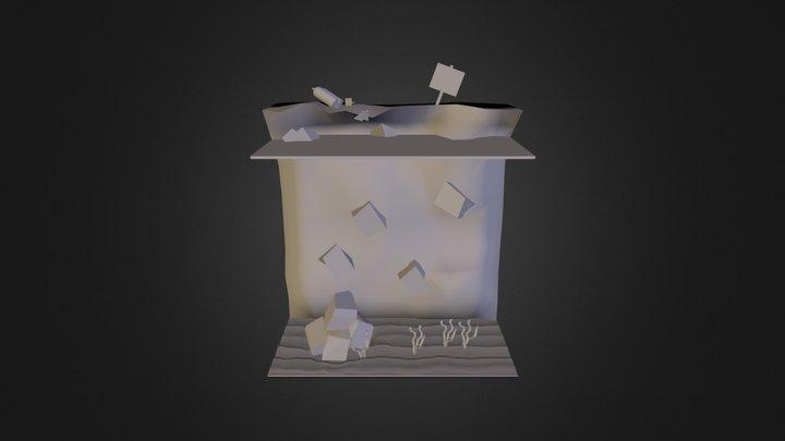 Rough idea for island diorama 3D Model