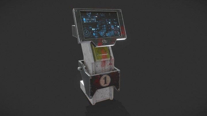 Futuristic Apocalpyse Console 3D Model