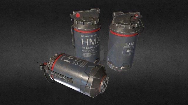 MHX Hi-Explosive Grenade 3D Model