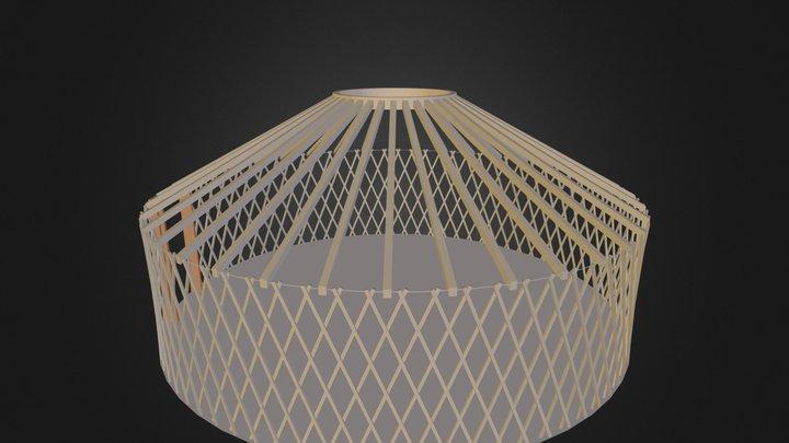 יורט קיט 6 מטרים שלד עץ 3D Model