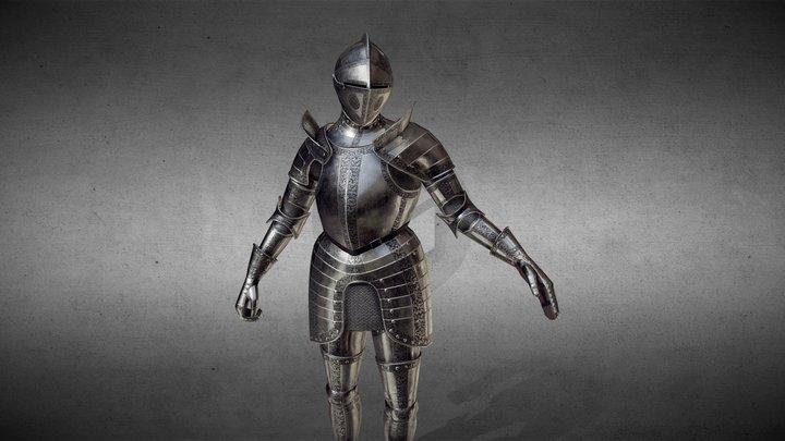 Renaissance Plate Armour [Rigged] 3D Model