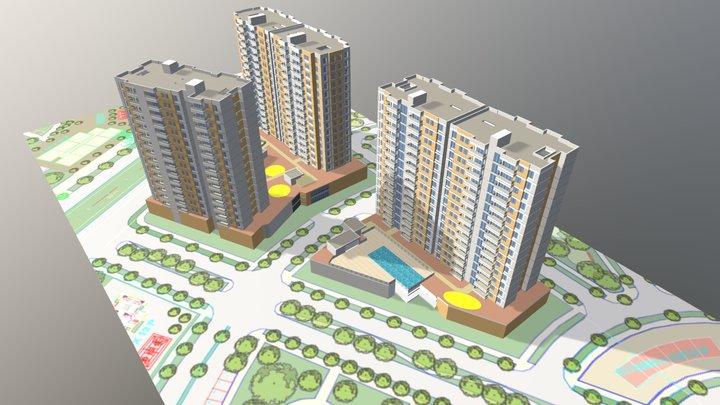 VALLE DE LOS SANTOS 2A 2B 3D Model