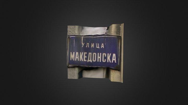 Street Sign Belgrade 3D Model