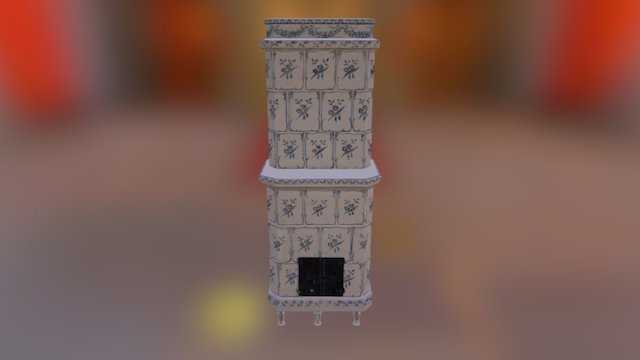 Gustavian tile stove from late 1700s 3D Model
