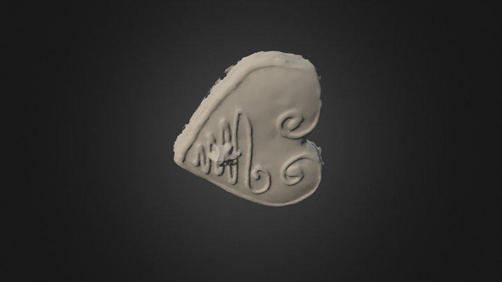 Heart Gingerbread 3D Model