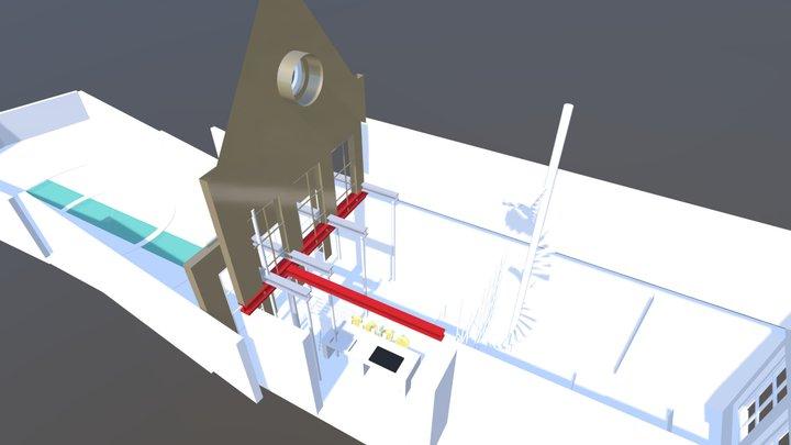 Constructie Opvanging achtergevel 3D Model