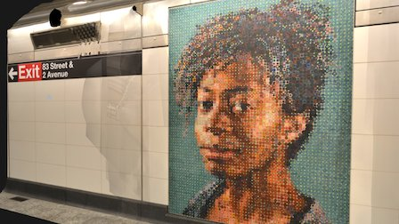 2nd Avenue Subway Mosaic Art 3D Model