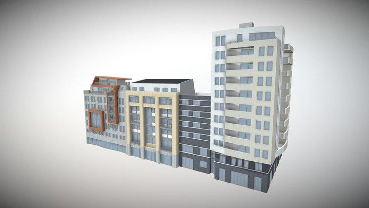 Gebäudeprojekt 3D Model