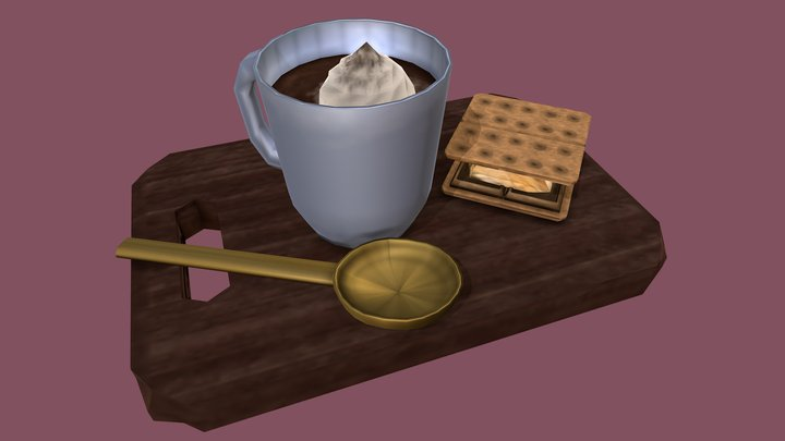 Hot Chocolate and S'mores 3D Model