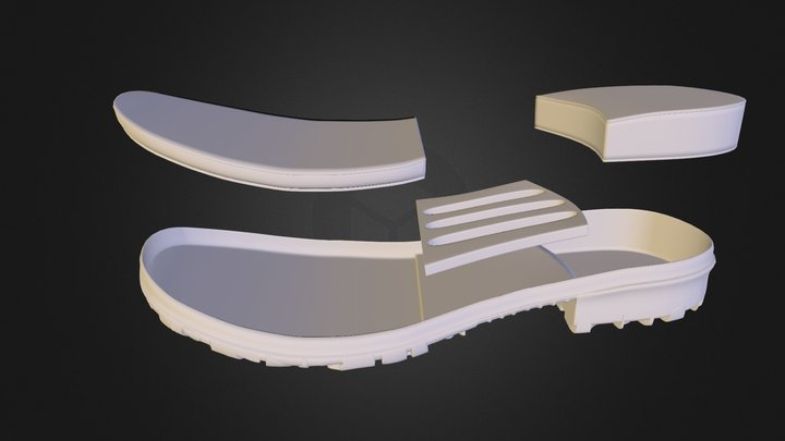 B O G S Shoe Outsole 02 3D Model