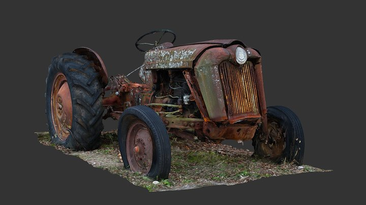 Tractor (Raw Scan) 3D Model