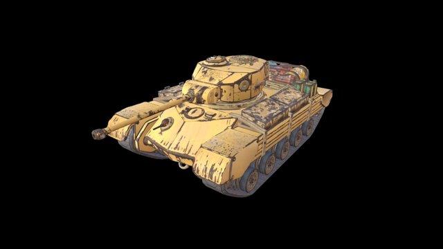 Metallic Fox: Co-op Player Tank 3D Model