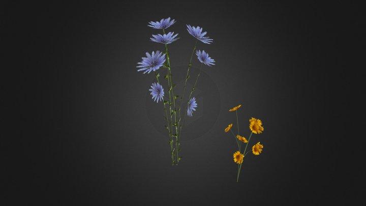 Prop Flowers 3D Model